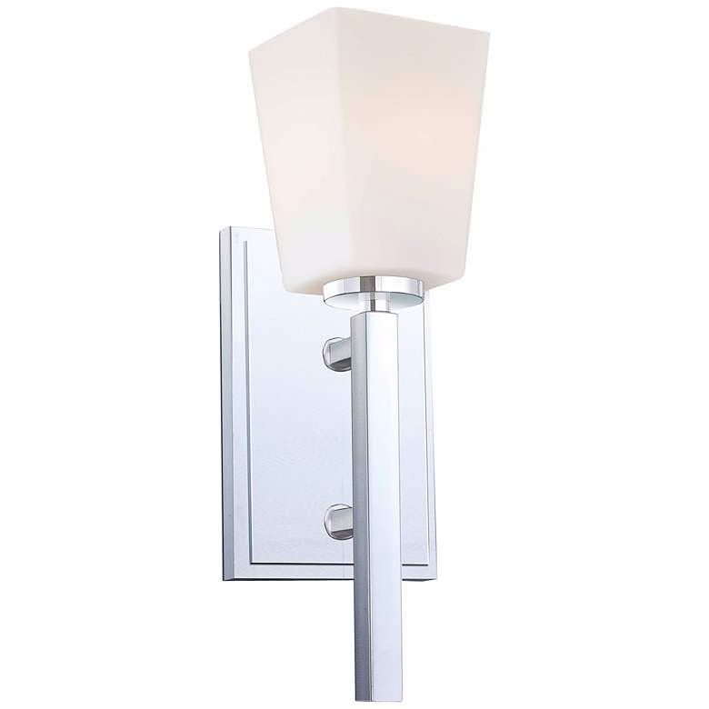 """City Square 13 1/2"""" High Chrome Wall Sconce"""
