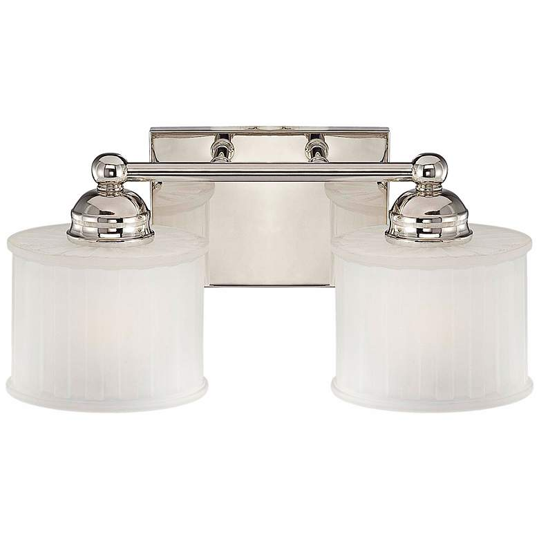 "1730 Series 14 1/4"" Wide Polished Nickel 2-Light Bath Light"