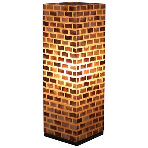 "Valentti Fiberglass Capiz Shell 25"" High Table Lamp"