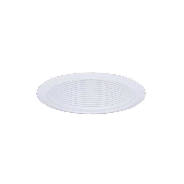 Elco 6 Line Voltage White Baffle Recessed Light Trim