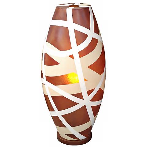 "Cape Town Light Brown Fiberglass 26"" High Table Lamp"