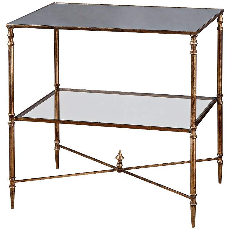 "Henzler 25 3/4"" Wide Metal and Glass Console Table"