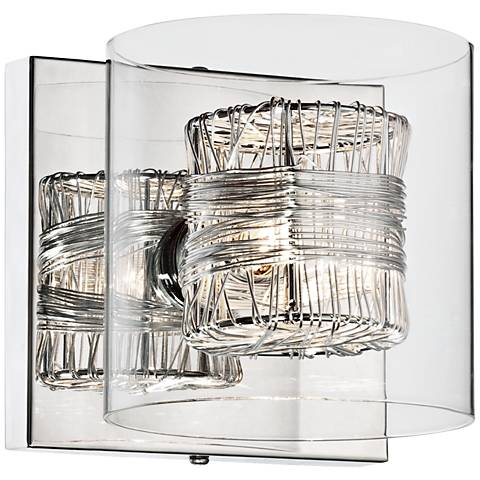 """Possini Euro Design Wrapped Wire 5"""" High Wall Sconce"""