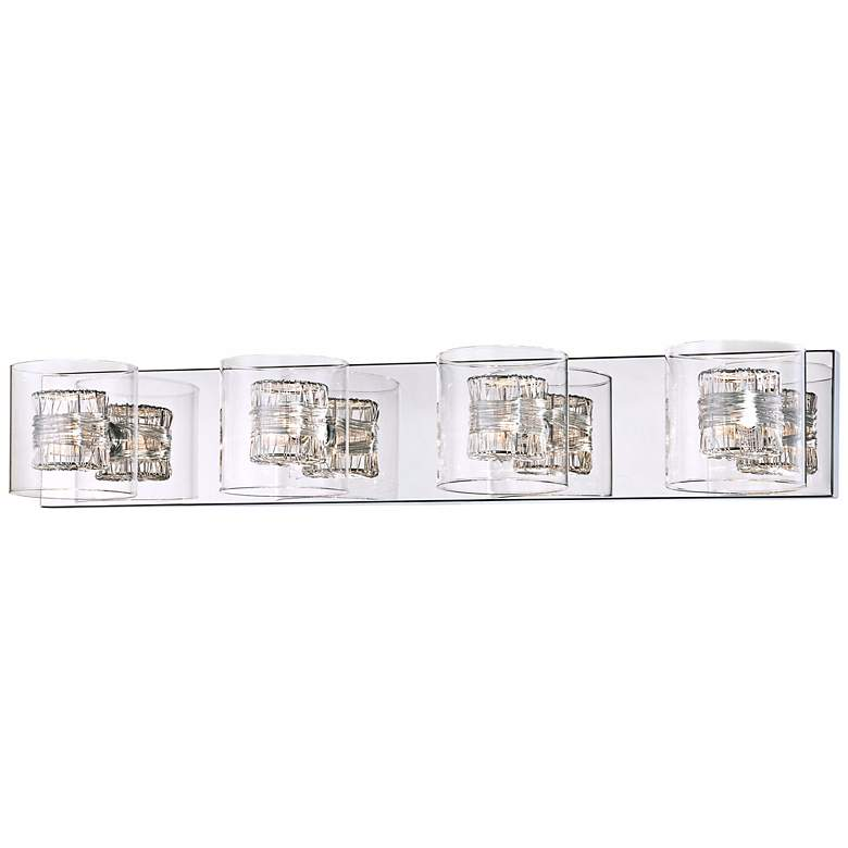 "Possini Euro Wrapped Wire 30 3/4"" Wide Chrome Bathroom Light"