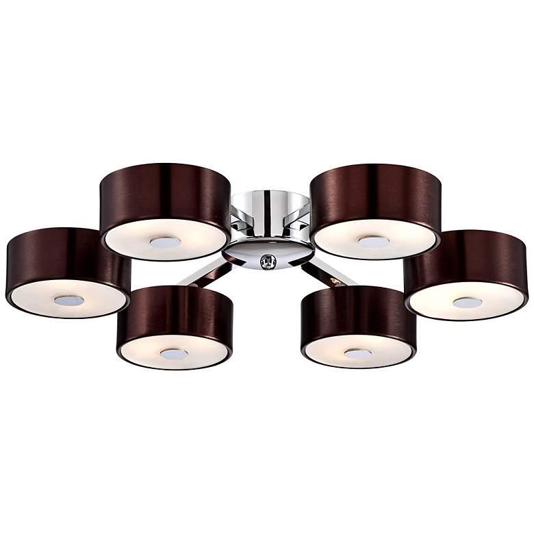 Possini Euro Design Chocolate Aluminum Ceiling Light