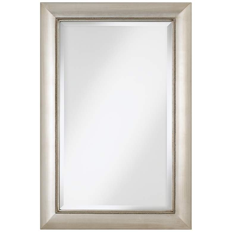 """Jocelyn Silver Beading 24"""" x 36"""" Rect Wall Mirror"""