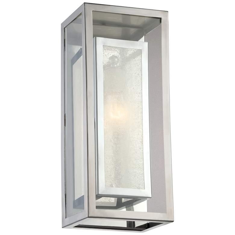 "Possini Euro Double Box 15 1/2""H Chrome Outdoor Wall Light"