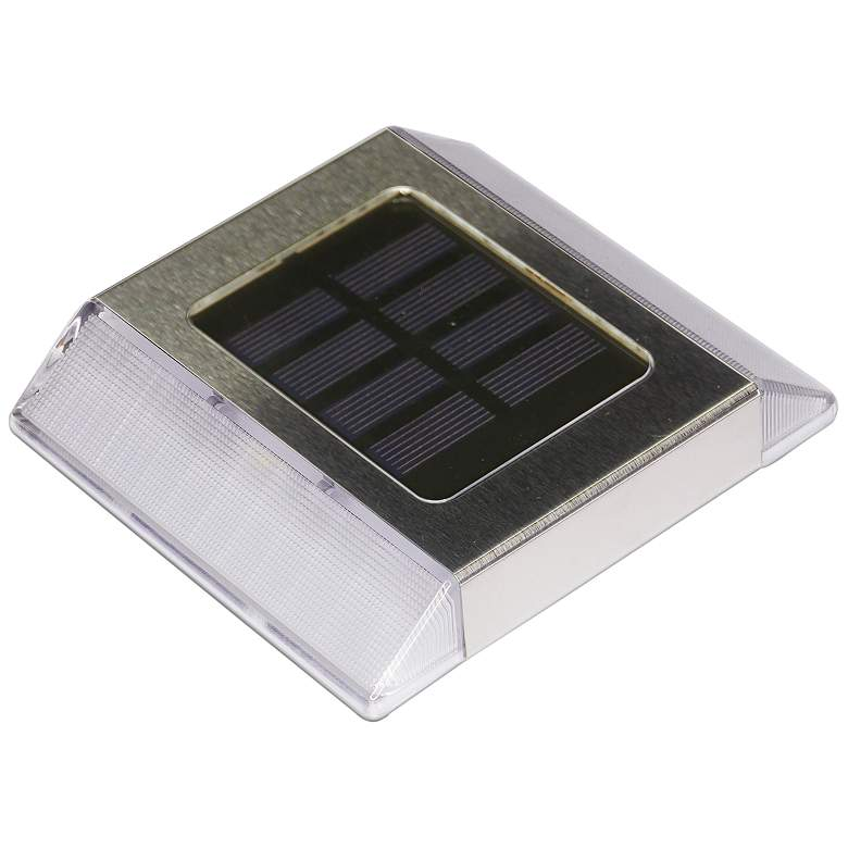 """Bayonne 1"""" High Stainless Steel Outdoor Solar LED"""
