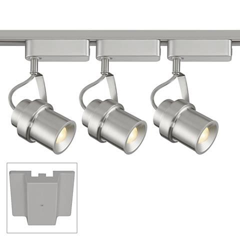 3-Light Silver LED Floating Canopy Track Kit