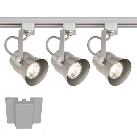 3-Light Silver Floating Canopy Track Kit