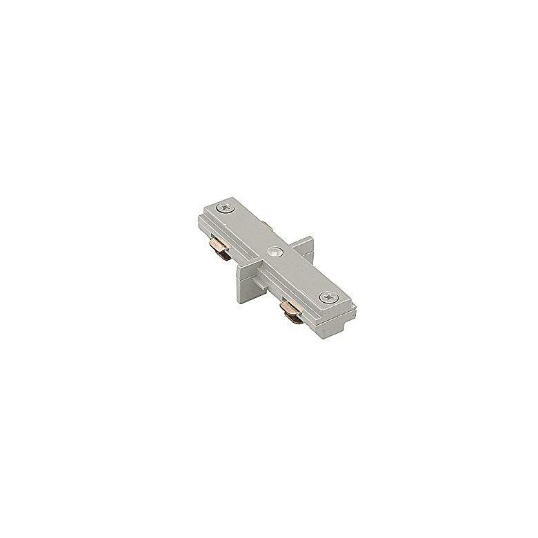 Brushed Nickel Straight Line Halo Single Circuit Connector