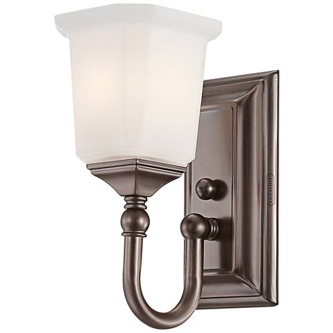 "Quoizel Nicholas 10"" High Harbor Bronze Wall Sconce"