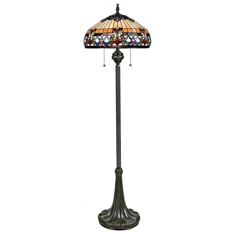 Quoizel Belle Fleur Tiffany-Style Floor Lamp