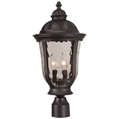 "Frances 24 1/4""H Oil Bronze Outdoor Post Light"