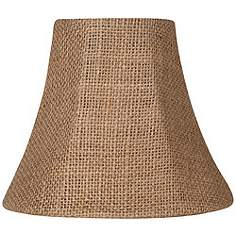 Clip on chandelier rustic lodge lamp shades lamps plus natural burlap bell lamp shade 3x6x5 clip on aloadofball Gallery