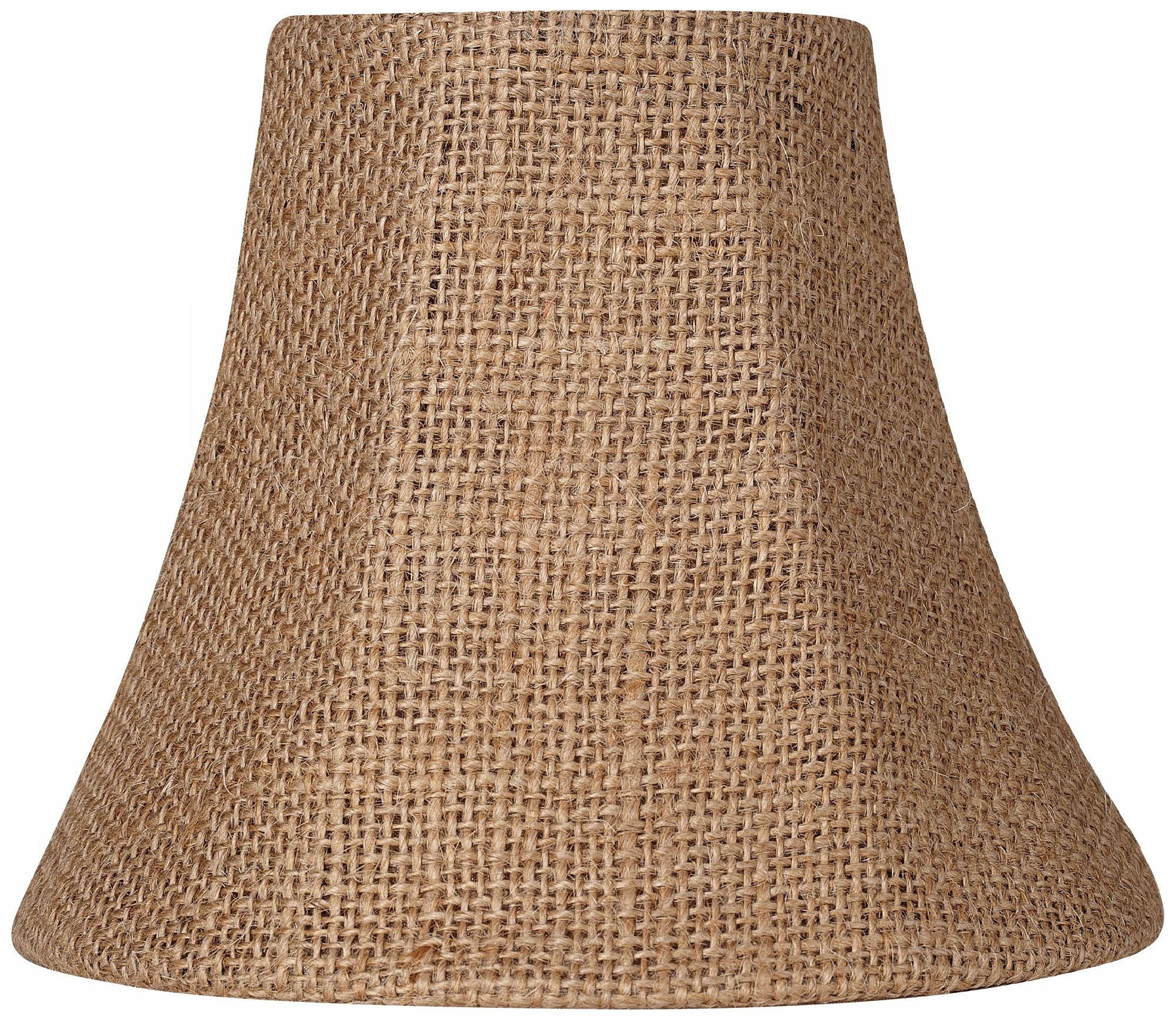 Natural Burlap Bell Lamp Shade 3x6x5 (Clip On)