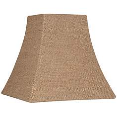 Country cottage lamp shades lamps plus burlap square lamp shade 525525x10x10x95 spider aloadofball Gallery