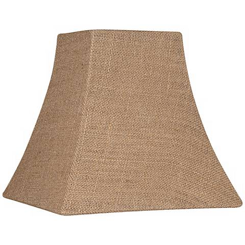 Burlap Square Lamp Shade 5.25/5.25x10x10x9.5 (Spider)