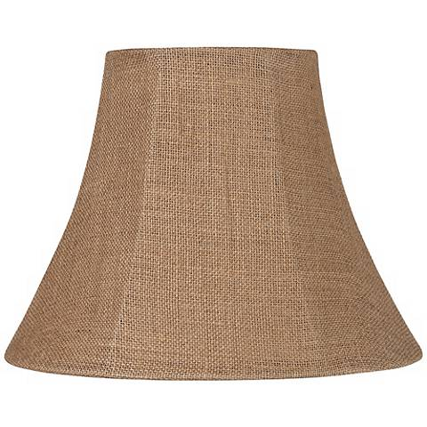 Natural Burlap Medium Bell Lamp Shade 7x14x11 (Spider)