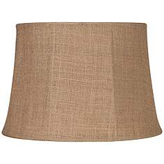 Burlap lamp shades lamps plus natural burlap large drum lamp shade 13x16x11 spider aloadofball Images