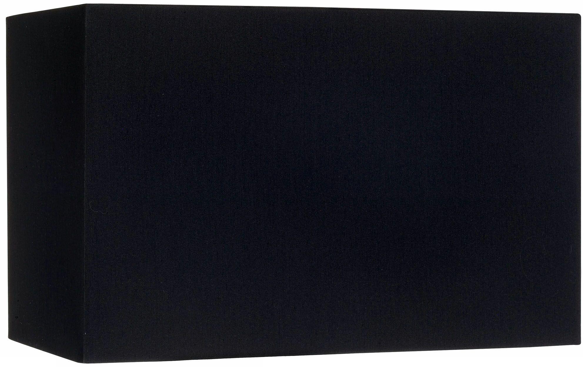 Black Rectangular Hardback Lamp Shade 8/16x8/16x10 (Spider)