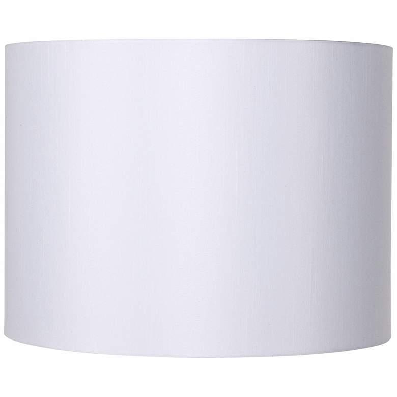 White Hardback Drum Lamp Shade 16x16x12 (Spider)