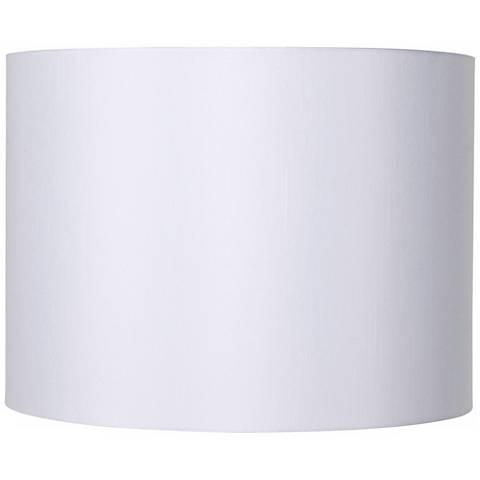 Shoptagr white hardback drum lamp shade 16x16x12 spider by lamps lamps plus white hardback drum lamp shade aloadofball Gallery