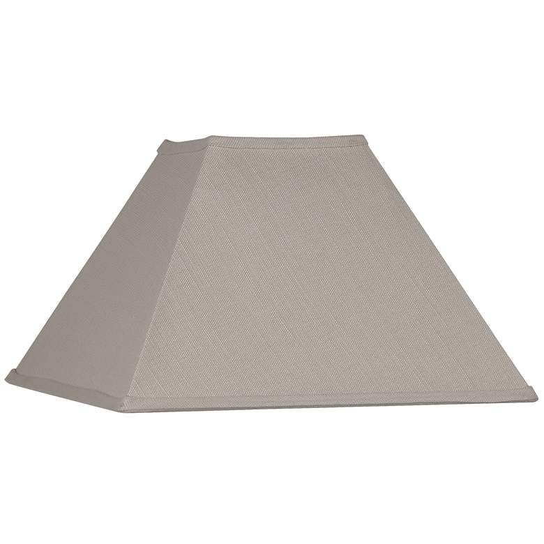 Beige Linen Square Lamp Shade 6x16x10 (Spider)