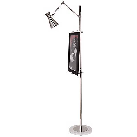 Jonathan Adler Bristol Floor Lamp Easel in Polished Nickel