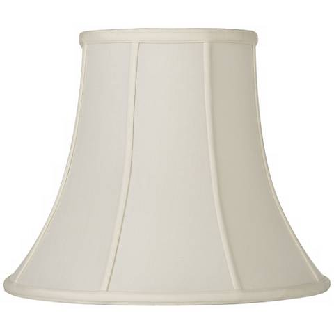 Oyster Silk Bell Lamp Shade 10x20x15 (Spider)