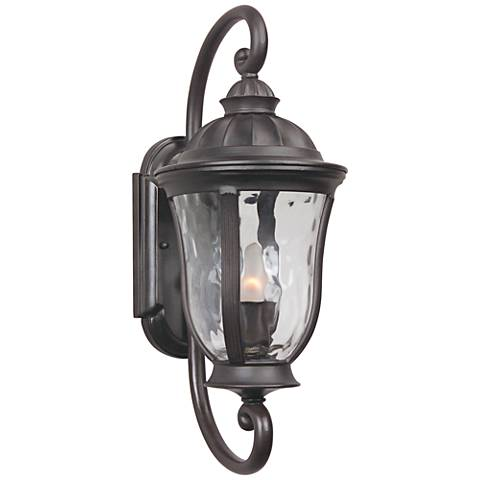 "Frances 19 1/4""H Oil Bronze Outdoor Wall Light"