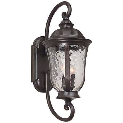 "Frances 28 3/4""H Oil Bronze Outdoor Wall Light"