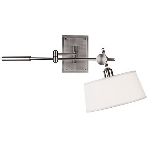 Robert Abbey Miles Brushed Nickel Boom Plug-In Lamp