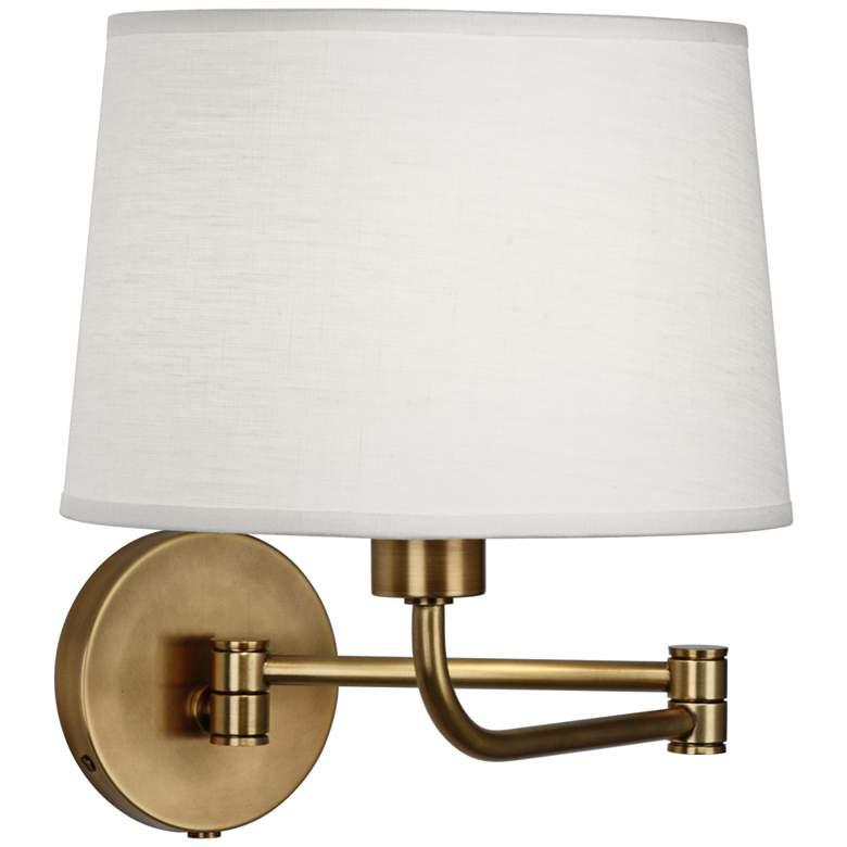 Robert Abbey Koleman Brass Plug-In Swing Arm Wall Lamp
