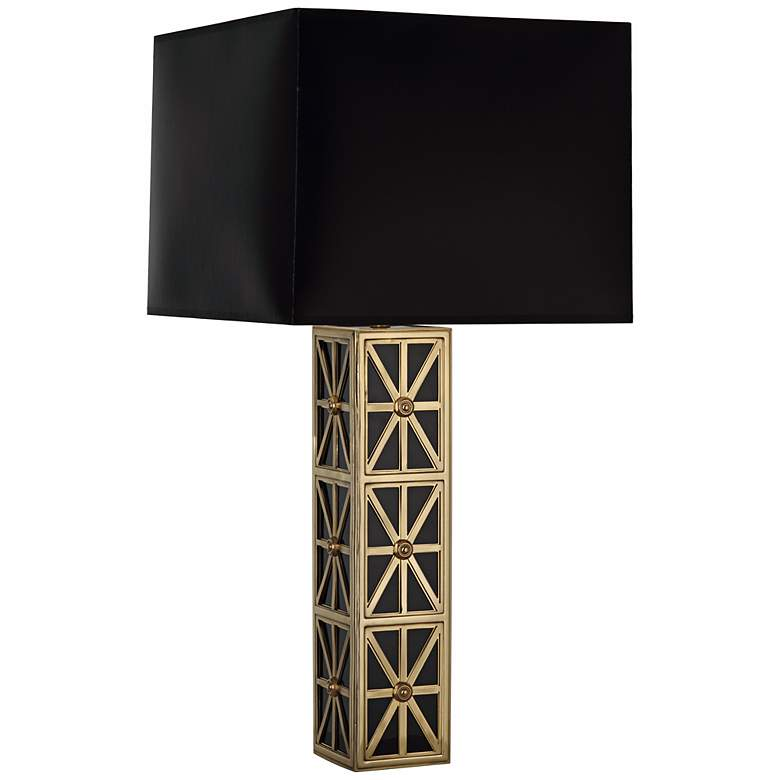 Mary McDonald Directoire Brass with Black Shade Table Lamp