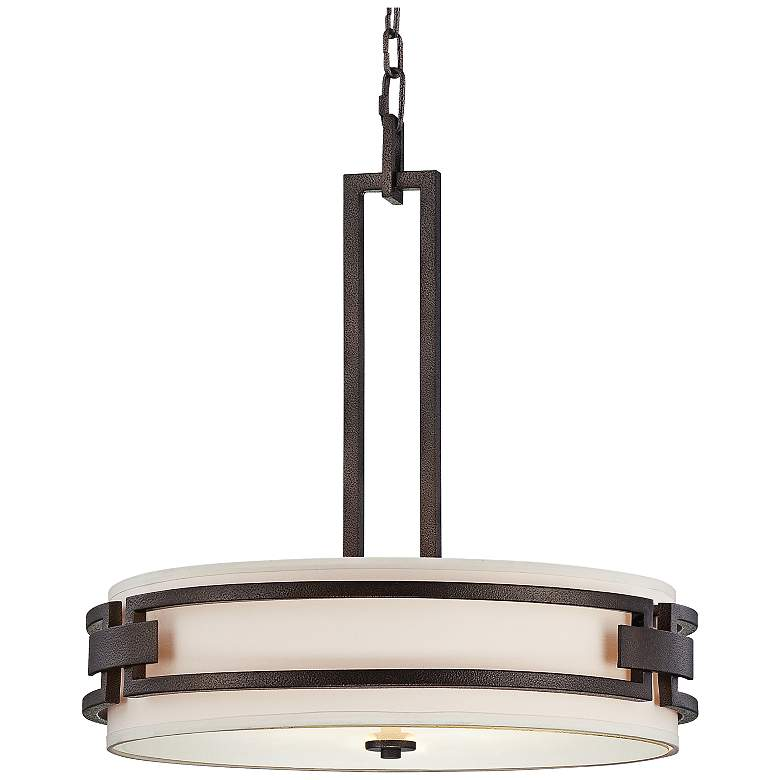 "Del Ray Bronze 21 3/4"" Wide Pendant Light"