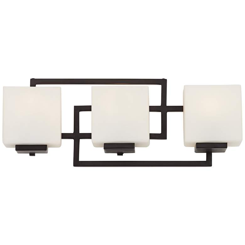 "Lighting on the Square 21"" Wide Bronze Bath Wall Light"