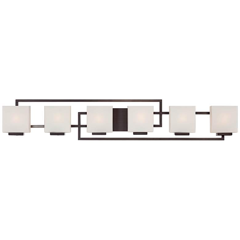 "Lighting on the Square 45"" Wide Bronze Bath Vanity Light"
