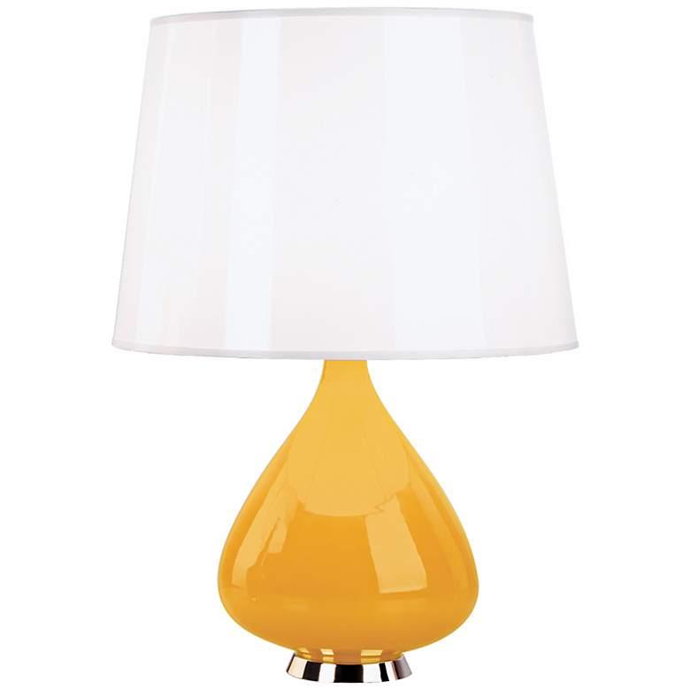 Jonathan Adler Capri Gourd Yellow Cased Glass Table Lamp