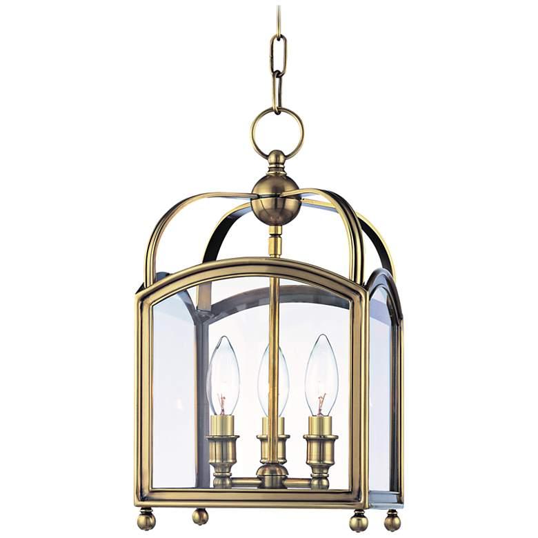 "Hudson Valley Millbrook 8 1/2"" Wide Aged Brass Pendant Light"
