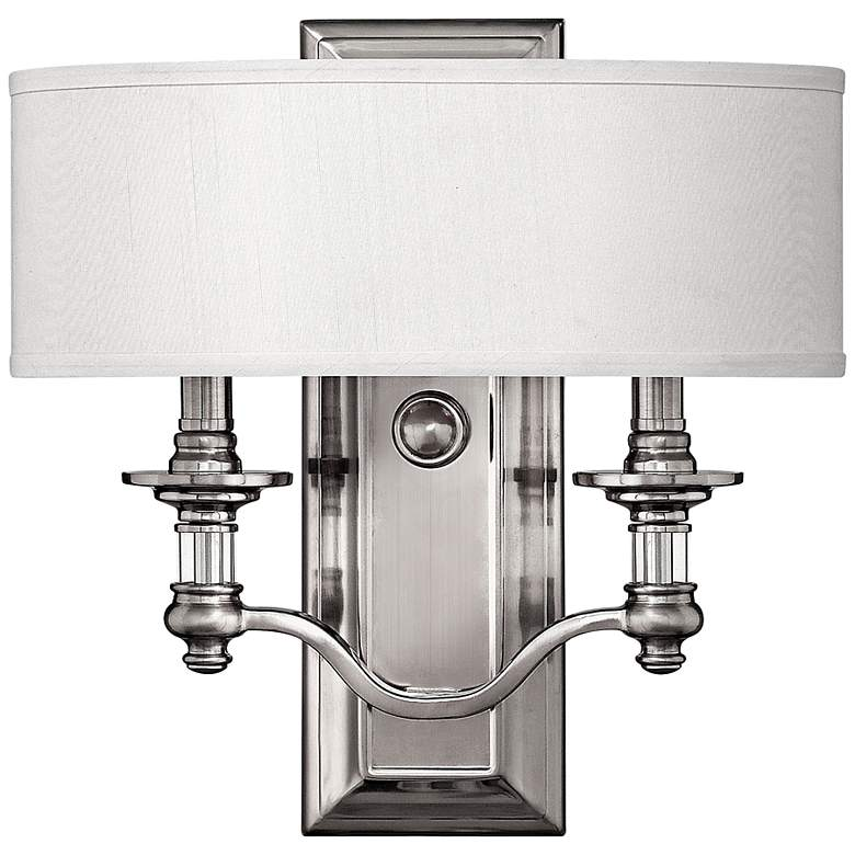 """Hinkley Sussex 14"""" High Brushed Nickel Wall Sconce"""