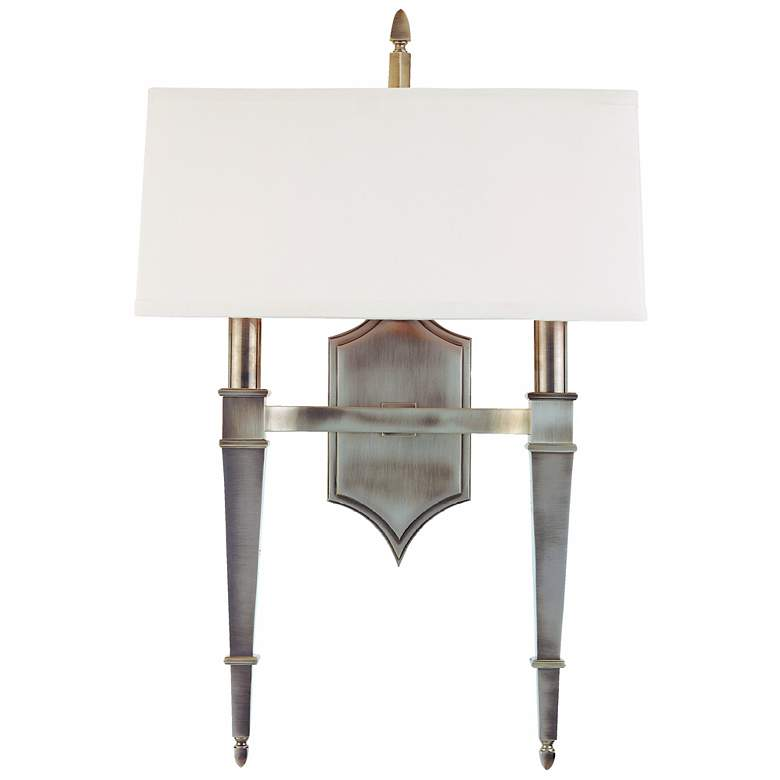 """Hudson Valley Norwich Nickel 14 1/2"""" Wide Wall Sconce"""