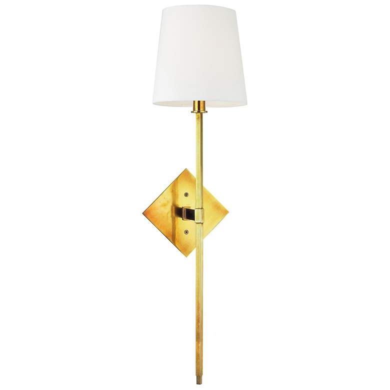 """Hudson Valley Cortland Aged Brass 25 1/2"""" High Wall Sconce"""