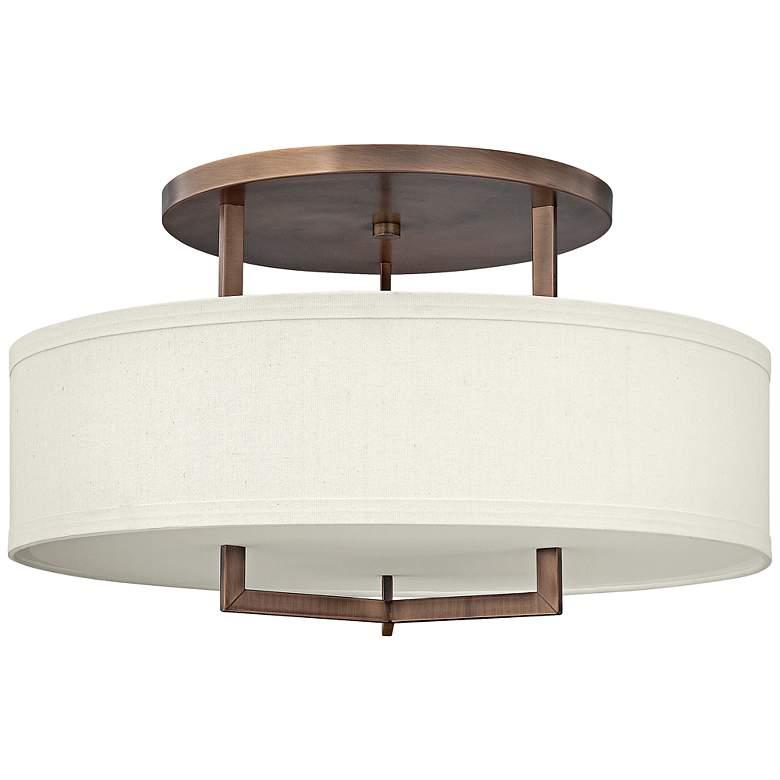"Hinkley Hampton 26"" Wide Brushed Bronze Ceiling Light"