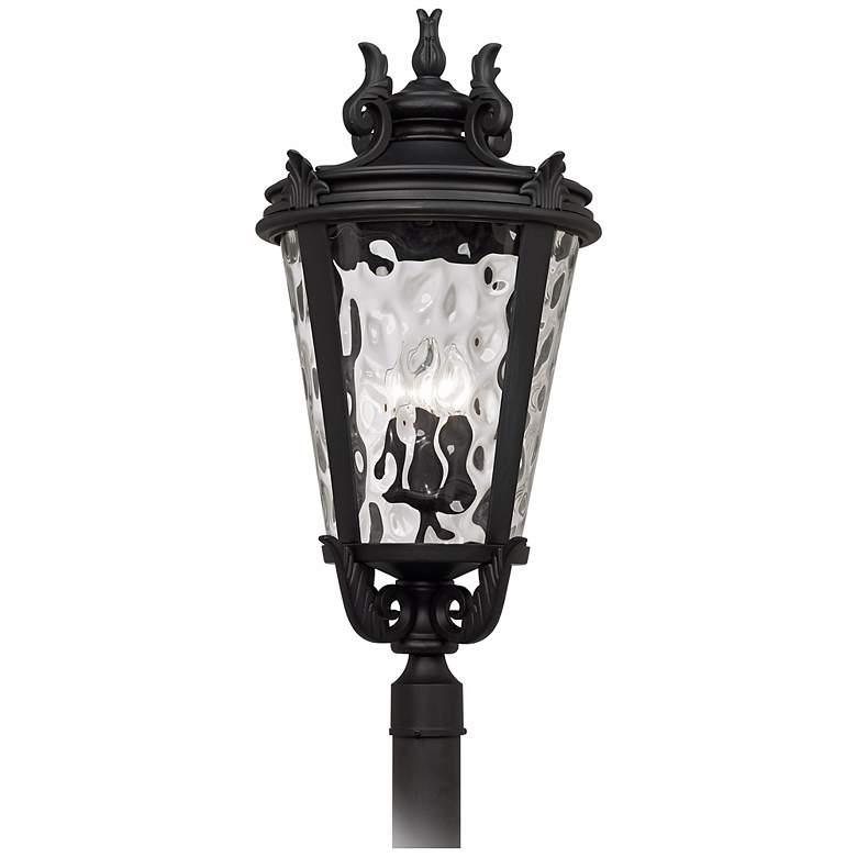 "Casa Marseille™ 33 1/2"" High Black Outdoor Post Light"