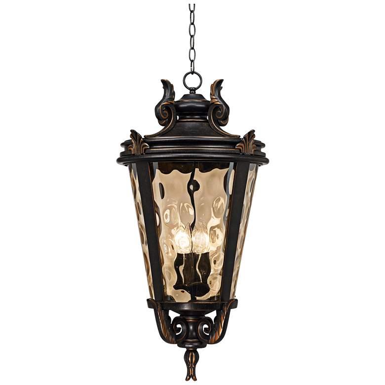 """Casa Marseille™ Bronze 30"""" High Outdoor Hanging Light"""