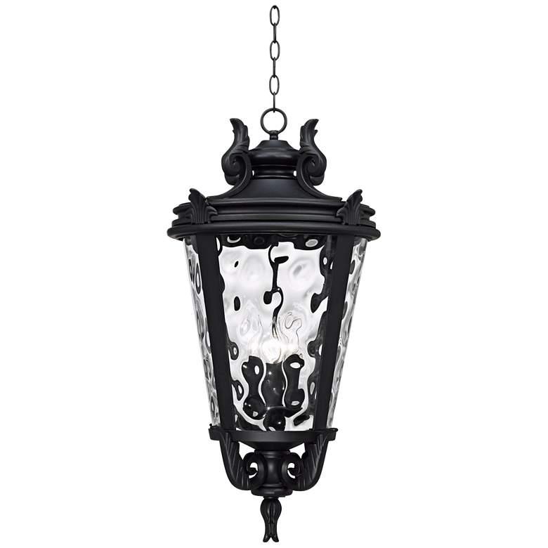 "Casa Marseille™ 30"" High Black Outdoor Hanging Light"