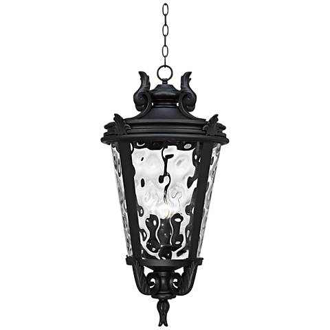 "Casa Marseille™ Black 30"" High Outdoor Hanging Light"