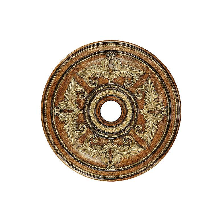 "Pascola 30 1/2"" Wide Venetian Patina Ceiling Medallion"