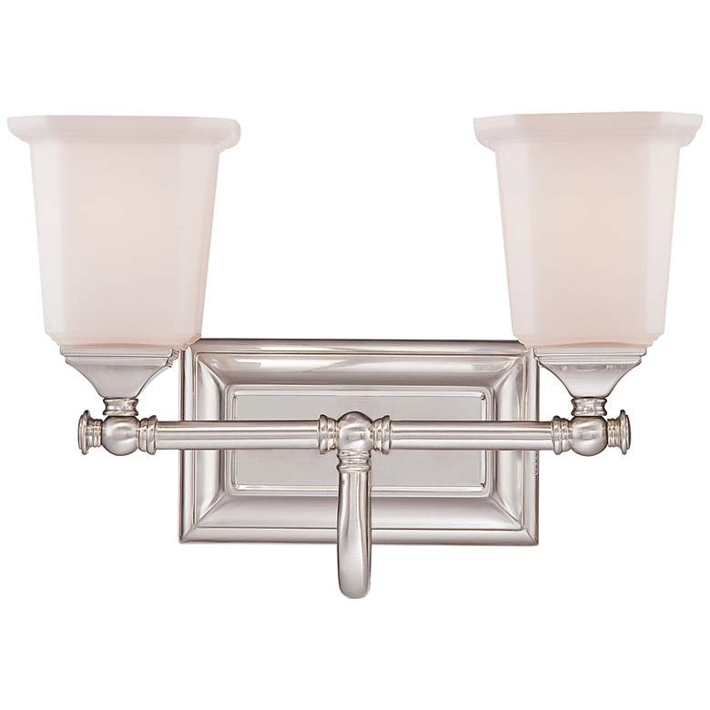 """Quoizel Nicholas 10"""" High Brushed Nickel 2-Light Wall Sconce"""